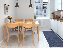 ess tisch 4 stühle konferenz tische büro holz design stuhl set 150x85cm zimmer