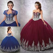 2017 burgundy beaded ball gown quinceanera dresses sweetheart