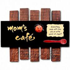 Abstract Wooden Art Decor For Kitchen Wall Online In India