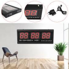 digital led wanduhr 24hr uhr mit datum temperatur wohnzimmer küchuhr de