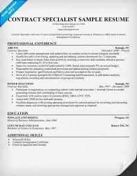 Help With A Contract Specialist Resume Resumecompanion Executive Examples