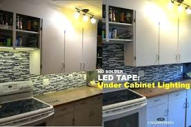 cool installing cabinet led lighting how to install led