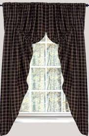 Primitive Curtains For Living Room by Country Window Treatment Primitive Country Curtains Rustic