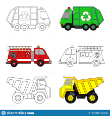 100 Kids Dump Trucks Coloring Page Stock Vector Illustration Of Vehicle