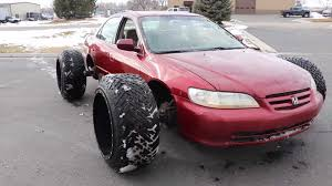 100 Big Truck Big Tires Honda Accord With Huge OffRoad Doesnt Look Practical