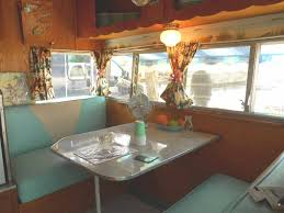 Warm And Cozy Dinette Area In Vintage 1962 Shasta Travel Trailer Small Camper InteriorTrailer