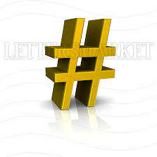 LettersMarket 3D Gold Symbol Number Grid isolated on a white