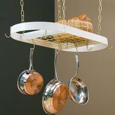 the gourmet rectangle kitchen pot rack with grid hayneedle