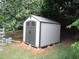 assembling and installing a lifetime products gable storage shed