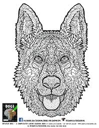 Free Printable Intricate Coloring Sheets Pages For Adults With Dementia Advanced Page Detailed Dogs Book