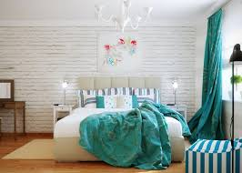 Fine Decoration Teal And White Bedroom Ideas