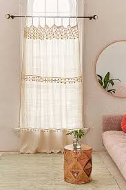 Plum And Bow Pom Pom Curtains by Beige Window Curtains Window Panels Urban Outfitters