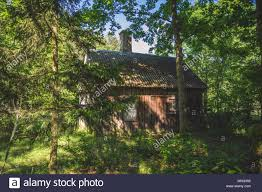 100 House In Forest Small Wooden House In The Forest Stock Photo 186594606 Alamy