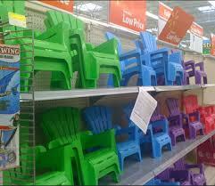 walmart child adirondack chairs 4 97 plastic but cute al com