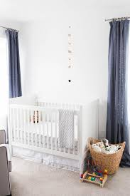 Yellow And White Curtains For Nursery by White And Blue Boy Nursery Ideas Transitional Nursery