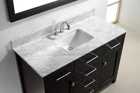 48 Inch Double Sink Vanity Top by Virtu Usa Ms 2048 Wmsq Es Caroline 48 Inch Bathroom Vanity With