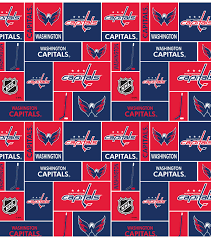 Washington Capitals Cotton Fabric 43