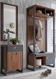 home affaire garderobenschrank detroit 90 cm breit im angesagten industrial look kaufen otto