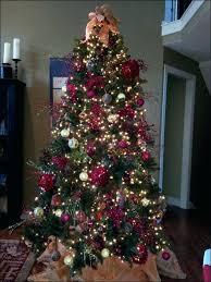 12 Foot Pre Lit Christmas Tree Ft Flocked Slim Fir Led Regarding 9