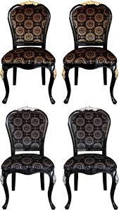 pompöös by casa padrino luxus barock esszimmer stühle mit krone schwarz gold schwarz silber 4 stühle harald glööckler möbel