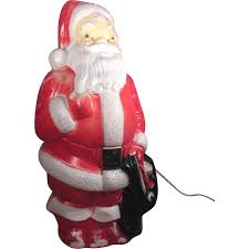 Halloween Blow Mold Display by 1968 Empire Plastic Corp Lighted Standing Blow Mold Santa Sold On