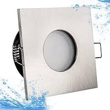 5watt power led badezimmer einbaustrahler lilly ip65 strahlwassergeschützt 230volt 5watt warmweiss geprüft 400lumen 3000kelvin einbauleuchte