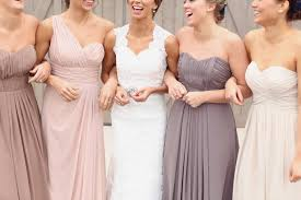 Neutral Bridesmaid Dresses Wedding Photography Bouquet