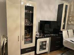vitrine für wohnzimmer inkl sideboard und hängeschrank