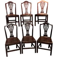 100 Dining Chairs Country English Style Set Of Six Georgian Oak Or Side New
