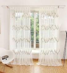 voile gardine vorhang schlaf wohnzimmer welle mit ösen uni creme weiß 1er pack ebay