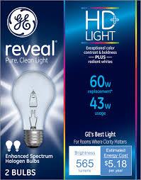 general electric reveal clear bulb 60w 2 ct walmart