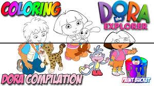 Dora The Explorer Coloring Pages Compilation For Kids