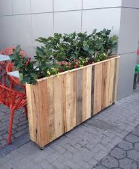 Reclaimed Pallet Wood Planter Box Pallets And Planters Plant Pots Wooden