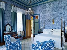 So Paulo Bedroom With Hand Painted Blue And White Walls