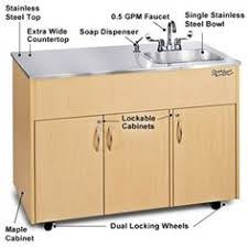Ozark River Portable Hand Sink by Advance Tabco Fe 3 1620 18 Stainless Steel 3 Compartment