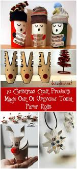 10 Christmas Craft Projects Made Out Of Upcycled Toilet Paper Rolls O Recyclart