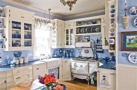 French Blue Decor Vintage Kitchen Decorating Your Cottage In And
