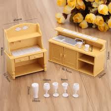 Buy Plastic Dining Table Miniature Kitchen Doll House Furniture Toy