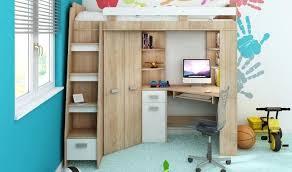 hauteur bureau enfant armoire lit enfant lit combin en hauteur enfant avec bureau et