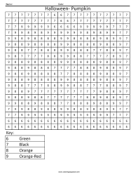 Halloween Pumpkin Holiday Color By Number To Print Of Coloring Pages For Teenagers Difficult 13 Numbers