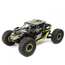 Losi 1/10 4WD Rock Rey RTR AVC Yellow | TowerHobbies.com