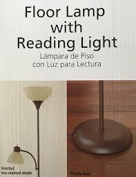 Mainstays Floor Lamp Bulb by Brown Floor Lamp With Reading Light 72