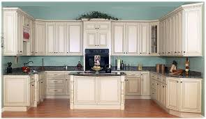 Off White Kitchen Cabinets With Granite Countertops And Dark Floors