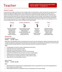 Resume Template For Teacher With Experience