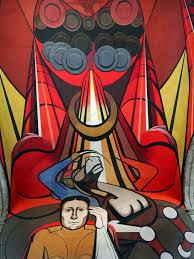 David Alfaro Siqueiros Mural Olvera Street by Mural