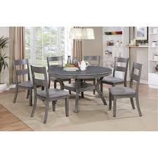 Cheap Dining Room Sets Under 10000 by Gray Transitional 7 Piece Round Dining Set Warwick Rc Willey