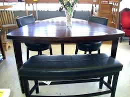 Pub Style Dining Table Triangle Room Sets With Wooden And 2 Black