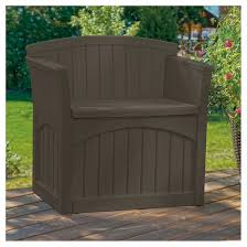 Suncast Resin Patio Furniture by Resin Storage Patio Seat 31 Gallon Java Brown Suncast Target