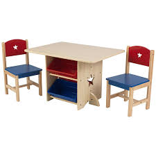 Childrens Kids Nursery Wooden Play Table And Chairs Set With 4 ...