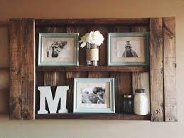 Diy Pallet Wall Shelf Decor Shelves Ideas Rustic Decorative Red